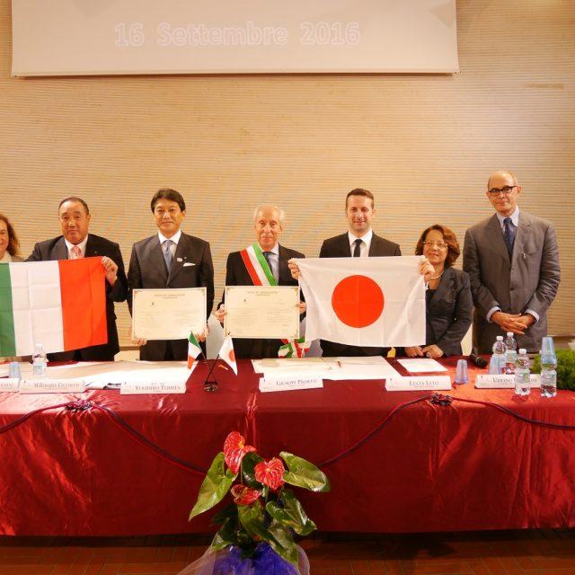 湯河原町がイタリア・チボリ市と友好親善都市協定を結びました☆